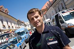 Andrej Hauptman of Radenska KD Financna tocka at start of 2nd stage of Tour de Slovenie 2009 from Kamnik to Ljubljana, 146 km, on June 19 2009, Slovenia. (Photo by Vid Ponikvar / Sportida)