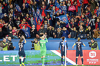 Joie PSG - Supporters PSG - 28.03.2015 - Paris Saint Germain / Glasgow City FC - 1/2 Finale retour Champions League<br /> Photo : Andre Ferreira / Icon Sport