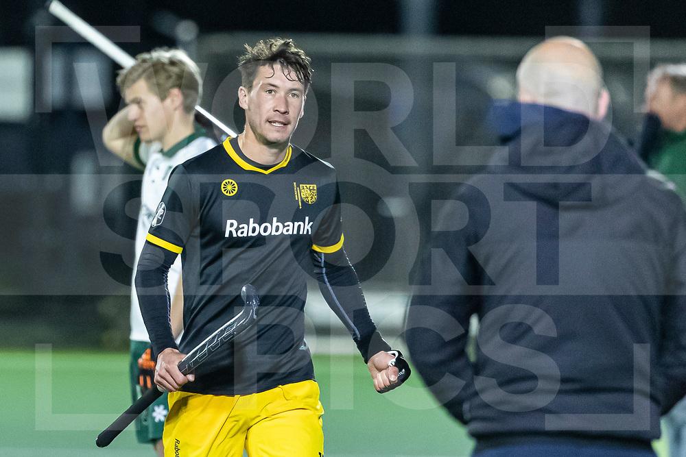 Rotterdam, Tulp Hoofdklasse Hockey Heren, Seizoen 2020-2021, 16-04-2021, Rotterdam - Den Bosch 0-3, Arjen Lodewijks (Den Bosch)  en Coach Eric Verboom (Den Bosch)<br /><br /> COPYRIGHT WORLDSPORTPICS WILLEM VERNES