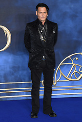 Johnny Depp attending the Fantastic Beasts: The Crimes of Grindelwald UK premiere held at Leicester Square, London. Photo credit should read: Doug Peters/EMPICS