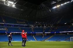 Aden Flint of Bristol City and team mates look around the Etihad Stadium - Mandatory by-line: Matt McNulty/JMP - 09/01/2018 - FOOTBALL - Etihad Stadium - Manchester, England - Manchester City v Bristol City - Carabao Cup Semi-Final First Leg