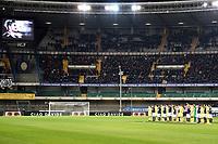 minuto di silenzio. Minute of silence dedicated to Fiorentina player Davide Astori suddenly dead some days ago <br /> Verona 10-03-2018 Stadio Bentegodi Football Calcio Serie A, Hellas Verona - Chievo Foto Image sport / Insidefoto