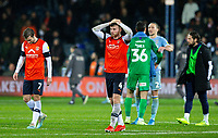 Luton Town's Ryan Tunnicliffe reacts after the match<br /> <br /> Photographer Alex Dodd/CameraSport<br /> <br /> The EFL Sky Bet Championship - 191123 Luton Town v Leeds United - Saturday 23rd November 2019 - Kenilworth Road - Luton<br /> <br /> World Copyright © 2019 CameraSport. All rights reserved. 43 Linden Ave. Countesthorpe. Leicester. England. LE8 5PG - Tel: +44 (0) 116 277 4147 - admin@camerasport.com - www.camerasport.com