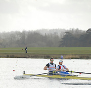 Eton, GREAT BRITAIN,  GB Trials 3rd Winter assessment at,  Eton Rowing Centre, venue for the 2012 Olympic Rowing Regatta, Trials cut short due to weather conditions forecast for the second day Sunday  13/02/2011   [Photo, Karon Phillips/Intersport-images]