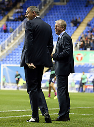 Queens Park Rangers manager Steve McClaren and Reading manager Paul Clement (left) before the Sky Bet Championship match between Reading and Queens Park Rangers.