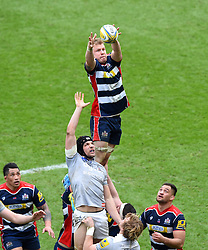 Mitch Eadie of Bristol Rugby in line-out action - Mandatory by-line: Paul Knight/JMP - 26/02/2017 - RUGBY - Ashton Gate - Bristol, England - Bristol Rugby v Bath Rugby - Aviva Premiership