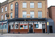 The Book and Record Bar in West Norwood on the 13th April 2018 in South London, United Kingdom. What was once a pub called the Gypsy Queen, The Book at Record bar now sells new and used books, vinyl as well as hosts monthly music nights.