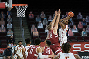during an NCAA men's basketball game, Wednesday, March 3, 2021, in Los Angeles. USC defeated Stanford 79-42. (Jon Endow/Image of Sport)