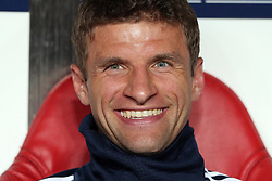 September 19, 2018 - Lisbon, Portugal - Bayern Munich's forward Thomas Muller from Germany during the UEFA Champions League Group E football match SL Benfica vs Bayern Munich at the Luz stadium in Lisbon, Portugal on September 19, 2018. (Credit Image: © Pedro Fiuza/ZUMA Wire)