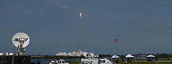 In this photo released by the National Aeronautics and Space Administration (NASA),, A SpaceX Falcon 9 rocket carrying the company's Crew Dragon spacecraft is launched from Launch Complex 39A on NASA's SpaceX Demo-2 mission to the International Space Station with NASA astronauts Robert Behnken and Douglas Hurley onboard, Saturday, May 30, 2020, at NASA's Kennedy Space Center in Florida. The Demo-2 mission is the first launch with astronauts of the SpaceX Crew Dragon spacecraft and Falcon 9 rocket to the International Space Station as part of the agency's Commercial Crew Program. The test flight serves as an end-to-end demonstration of SpaceX's crew transportation system. Behnken and Hurley launched at 3:22 p.m. EDT on Saturday, May 30, from Launch Complex 39A at the Kennedy Space Center. A new era of human spaceflight is set to begin as American astronauts once again launch on an American rocket from American soil to low-Earth orbit for the first time since the conclusion of the Space Shuttle Program in 2011. Mandatory Credit: Joel Kowsky / NASA via CNP. 30 May 2020 Pictured: In this photo released by the National Aeronautics and Space Administration (NASA),, A SpaceX Falcon 9 rocket carrying the company's Crew Dragon spacecraft is launched from Launch Complex 39A on NASA's SpaceX Demo-2 mission to the International Space Station with NASA astronauts Robert Behnken and Douglas Hurley onboard, Saturday, May 30, 2020, at NASA's Kennedy Space Center in Florida. The Demo-2 mission is the first launch with astronauts of the SpaceX Crew Dragon spacecraft and Falcon 9 rocket to the International Space Station as part of the agency's Commercial Crew Program. The test flight serves as an end-to-end demonstration of SpaceX's crew transportation system. Behnken and Hurley launched at 3:22 p.m. EDT on Saturday, May 30, from Launch Complex 39A at the Kennedy Space Center. A new era of human spaceflight is set to begin as American astronauts once again launch on a