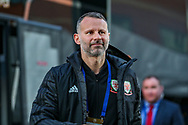 Wales Manager Ryan Giggs arrives ahead of the Friendly European Championship warm up match between Wales and Trinidad and Tobago at the Racecourse Ground, Wrexham, United Kingdom on 20 March 2019.