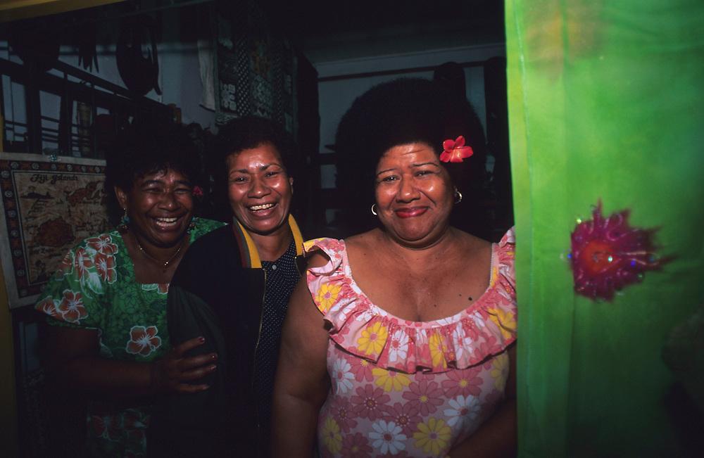 Fijian Women from Pacific Harbor, Viti Levu, Fiji Islands