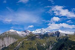 THEMENBILD - Panoramaansicht Grossglockner (Glockner), höchster Berg Österreichs (3798m) und umliegende Gipfel der Glocknergruppe im Sommer, am Dienstag, 10. September 2019, Kals am Großglockner, Österreich // Panorama view Grossglockner (Glockner), highest mountain in Austria (3798m) and surrounding peaks of the Glocknergruppe on Tuesday, September 10, 2019, Kals am Großglockner, Austria. EXPA Pictures © 2019, PhotoCredit: EXPA/ Johann Groder