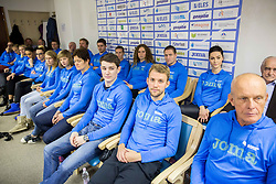 Robert Renner and Zan Rudolf during press conference when Slovenian athletes and their coaches sign contracts with Athletic federation of Slovenia for year 2016, on February 25, 2016 in AZS, Ljubljana, Slovenia. Photo by Vid Ponikvar / Sportida