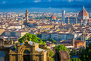 The skyline of the Tuscan city Firenze (Florence) in Italy