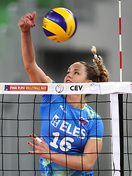 Monika Potokar of Slovenia during volleyball match between Slovenia and Slovakia in CEV European League Women on June 22, 2016 in Stozice, Ljubljana, Slovenia. Photo by Morgan Kristan / Sportida