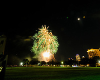 St. Petersburg First Night Fireworks (Early Show). Image taken with a Fuji X-T3 camera and 8-16 mm lens (ISO 200, 8 mm, f/8, 8 sec).
