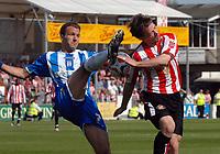 Photo: Ashley Pickering.<br /> Colchester United v Sunderland. Coca Cola Championship. 21/04/2007.<br /> Karl Duguid of Colchester (L) and David Connolly of Sunderland