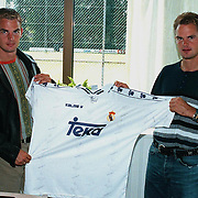 Frank de Boer + Ronald de Boer met shirt Real Madrid