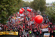 London, UK. Saturday 20th October 2012. TUC (Trades Union Congress) march 'A Future That Works'. Demonstration against austerity cuts by the government.