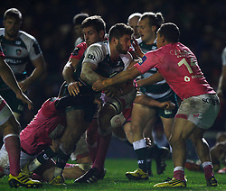 Owen Williams of Leicester Tigers (C)  in action - Mandatory byline: Jack Phillips / JMP - 07966386802 - 13/11/15 - RUGBY - Welford Road, Leicester, Leicestershire - Leicester Tigers v Stade Francais - European Rugby Champions Cup Pool 4