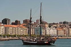 Sailing ship in the Bay of Santander, Spain<br /> <br /> (c) Andrew Wilson | Edinburgh Elite media
