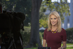 October 3, 2018 - Washington, District of Columbia, U.S. - WASHINGTON, DC:  Kellyanne Conway, Counselor to President Donald Trump does a television interview at the White House on October 3, 2018. .Credit: Tasos Katopodis / CNP (Credit Image: © Tasos Katopodis/CNP via ZUMA Wire)