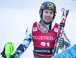 29.12.2016, Deborah Compagnoni Rennstrecke, Santa Caterina, ITA, FIS Ski Weltcup, Santa Caterina, alpine Kombination, Herren, Slalom, im Bild Marcel Hirscher (AUT, 2. Platz) // second placed Marcel Hirscher of Austria reacts after his run of Slalom competition for the men's Alpine combination of FIS Ski Alpine World Cup at the Deborah Compagnoni race course in Santa Caterina, Italy on 2016/12/29. EXPA Pictures © 2016, PhotoCredit: EXPA/ Johann Groder