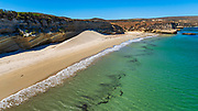The beach at Beechers Bay, Santa Rosa Island, Channel Islands National Park, California USA