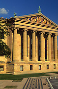 "Philadelphia Museum of Art, Facade, Columns Minnesota Dolomite, Polychrome Sculptures, ""Western Civilization,"" Philadelphia, PA USA"