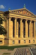 "Philadelphia Museum of Art, Facade, Columns Minnesota Dolomite, Polychrome Sculptures, ""Western Civilization,"" Philadelphia, PA USA"