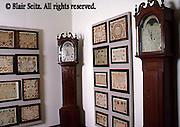 Fraktur and clocks, Pennsylvania Dutch Gallery, Reading Historical Society, Berks Co., PA