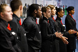 Catering staff look on as Lansdown Club Members are given a preview of the Heineken Lounge and other facilities in the newly built South Stand - Mandatory byline: Rogan Thomson/JMP - 07966 386802 - 13/08/2015 - SPORT - Ashton Gate Stadium - Bristol, England - Bristol Sport Lansdown Club Networking Event.