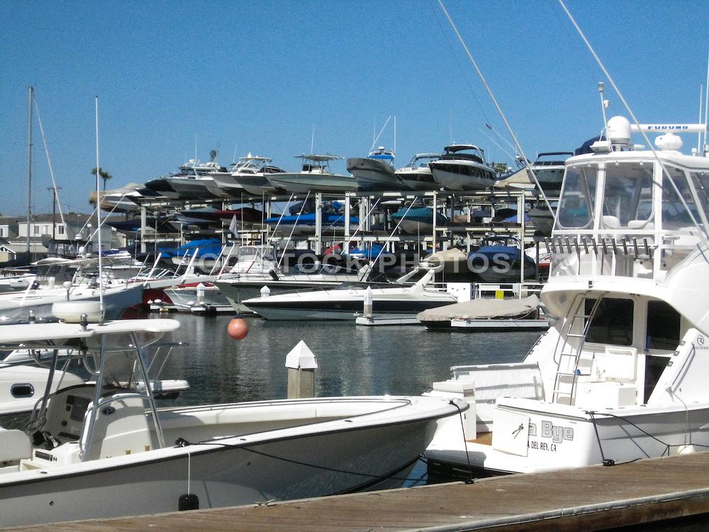 Boats Docked at Newport Beach Harbor