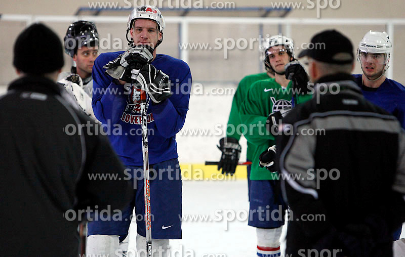Players at  hockey training of Slovenian national team, on December 12, 2007 in Bled - Ice Arena, Slovenia. (Photo by Vid Ponikvar / Sportal Images)