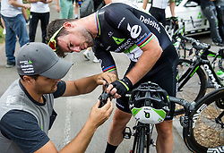 Mark Cavendish (GB) of Team Dimension Data repairing his bike during Stage 2 of 24th Tour of Slovenia 2017 / Tour de Slovenie from Ljubljana to Ljubljana (169,9 km) cycling race on June 16, 2017 in Slovenia. Photo by Vid Ponikvar / Sportida