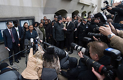 © Licensed to London News Pictures. 04/01/2012. London, UK.  Doreen Lawrence, Mother of murdered teenager Stephen Lawrence, speaking outside The Old Bailey in London on January 4th, 2012, after the sentencing of Gary Dobson and David Norris to a combined total of over 29 years for the murder of teenager Stephen Lawrence. Photo credit : Ben Cawthra/LNP
