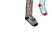 old socks, isolated on white background
