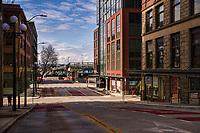 Columbia Street, Downtown. (April 4, 2020).