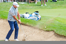 June 22, 2018 - Madison, WI, U.S. - MADISON, WI - JUNE 22: Steve Stricker gets out of the sand trap at the ninth hole during the American Family Insurance Championship Champions Tour golf tournament on June 22, 2018 at University Ridge Golf Course in Madison, WI. (Photo by Lawrence Iles/Icon Sportswire) (Credit Image: © Lawrence Iles/Icon SMI via ZUMA Press)