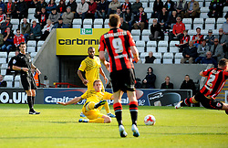 Lee Mansell of Bristol Rovers scores - Mandatory byline: Neil Brookman/JMP - 07966 386802 - 03/10/2015 - FOOTBALL - Globe Arena - Morecambe, England - Morecambe FC v Bristol Rovers - Sky Bet League Two