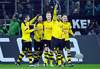 Fotball<br /> Tyskland<br /> 23.01.2016<br /> Foto: Witters/Digitalsport<br /> NORWAY ONLY<br /> <br /> 0:1 Jubel v.l. Henrikh Mkhitaryan, Gonzalo Castro, Torschuetze Marco Reus, Ilkay Guendogan, Lukasz Piszczek (Dortmund)<br /> <br /> Moenchengladbach, 23.01.2016, Fussball Bundesliga, Borussia Mönchengladbach - Borussia Dortmund