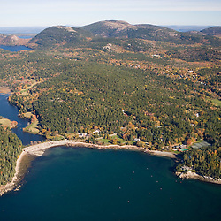 Bracy Cove and Little Long Pond on Mount Desert Island Maine USA