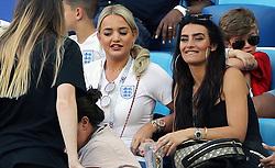 Megan Davison, girlfriend of England goalkeeper Jordan Pickford (left) and Annie Kilner, girlfriend of England's Kyle Walker during the FIFA World Cup Group G match at Kaliningrad Stadium.