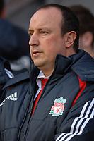 Photo: Paul Greenwood.<br />Wigan Athletic v Liverpool. The Barclays Premiership. 02/12/2006. Liverpool manager Rafael Benitez