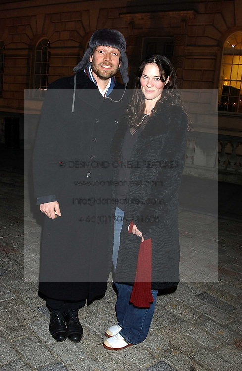 Musician ALEX JAMES and CLAIRE NEATE at a party to celebrate the opening of the annual Somerset House Ice Rink at Somerset House, London on 23rd November 2005.<br /><br />NON EXCLUSIVE - WORLD RIGHTS