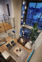 1937_12th_Street Washington DC loft view looking down into living room