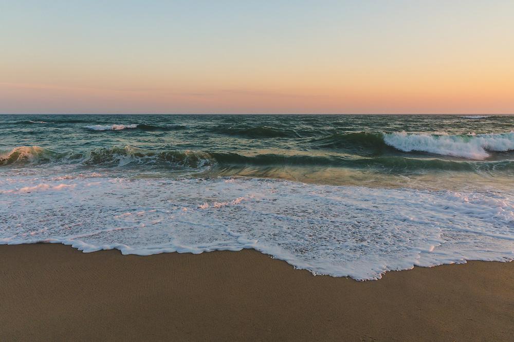 Atlantic Ocean waves reaching the sandy shores of Madaket.