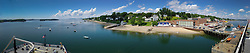 Panoramic View of Castine Harbor from Deck of T/V State of Maine, Castine, Maine, US