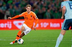 10-10-2019 NED: Netherlands - Northern Ireland, Rotterdam<br /> UEFA Qualifying round Group C match between Netherlands and Northern Ireland at De Kuip in Rotterdam / Frenkie de Jong #21 of the Netherlands